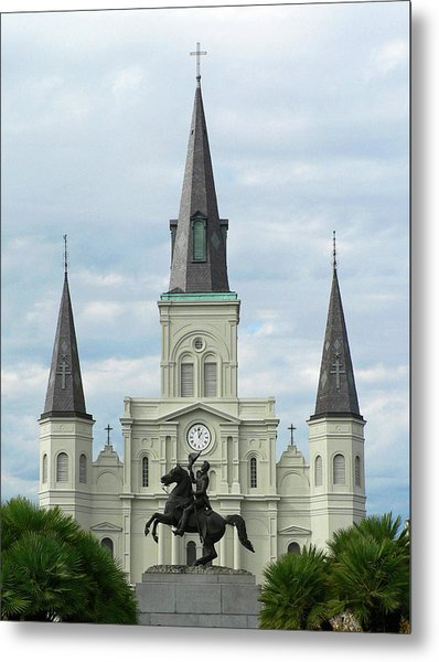 St Louis Cathedral Metal Print