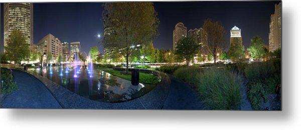 St. Louis City Garden Panorama Metal Print