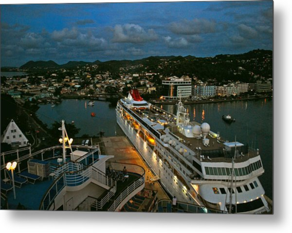 St. Lucia In The Evening Metal Print