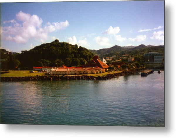 St Lucia Welcome Center Metal Print by Russ Mullen