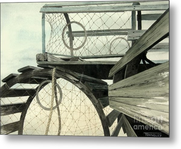 Stacked Traps Metal Print