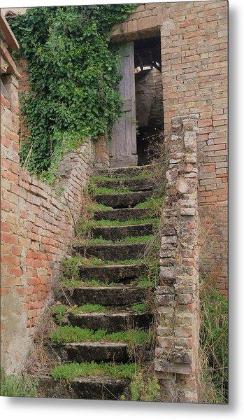 Stairway Less Traveled Metal Print