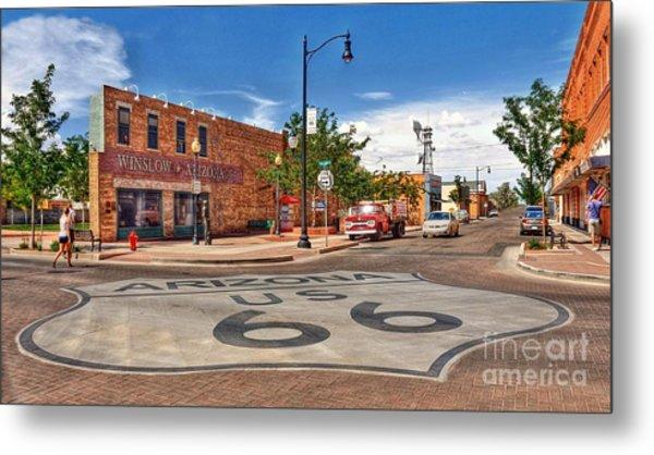 Standin On The Corner Route 66 Metal Print by John Kelly