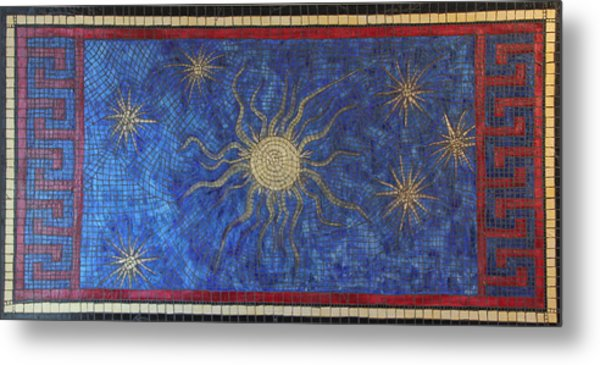 Star Meander Metal Print by Tracy Fetter