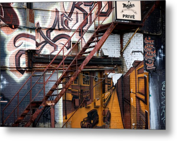 Stare Stair Metal Print