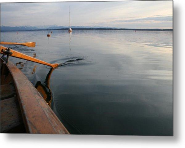 Starnberger Lake At Sunset Metal Print