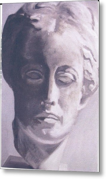 Statue Young Boy Metal Print by Deena Greenberg
