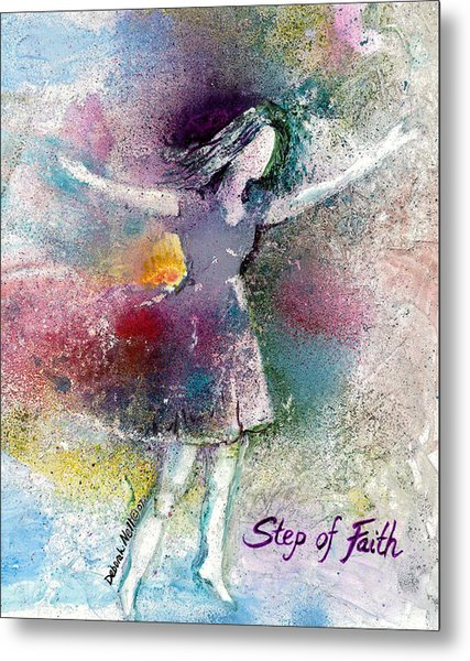 Metal Print featuring the painting Step Of Faith by Deborah Nell