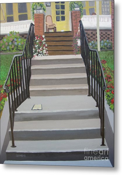 Steps To Recovery Metal Print by Lisa Urankar