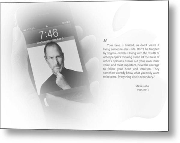 Steve Jobs 2 Metal Print