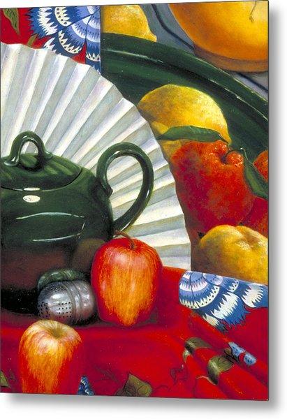 Still Life With Citrus Still Life Metal Print by Nancy  Ethiel
