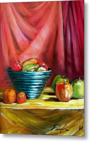 Still Life With Fruit Metal Print