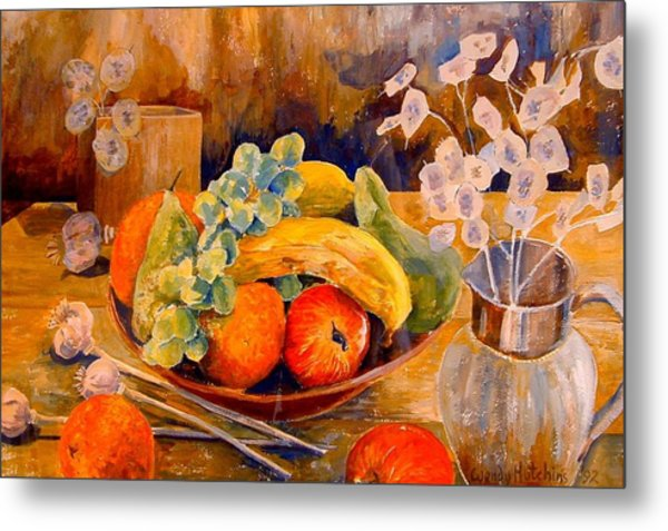 Still Life With Honesty Metal Print by Wendy Head