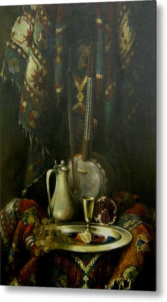 Still-life With The Kamancha Metal Print