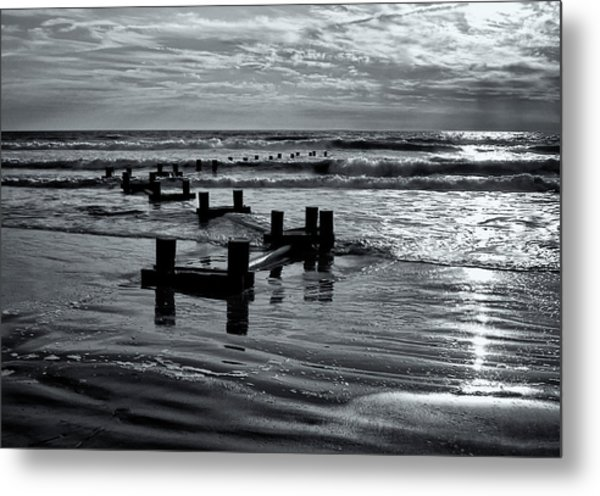 Stone Harbor Sunrise Metal Print