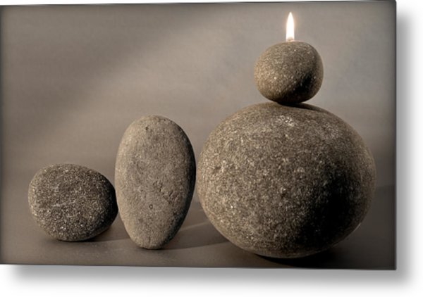 Stone Light Metal Print