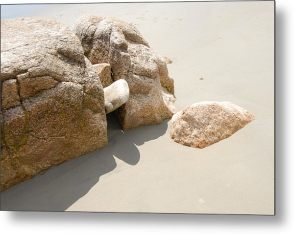 Stone Shadows Metal Print