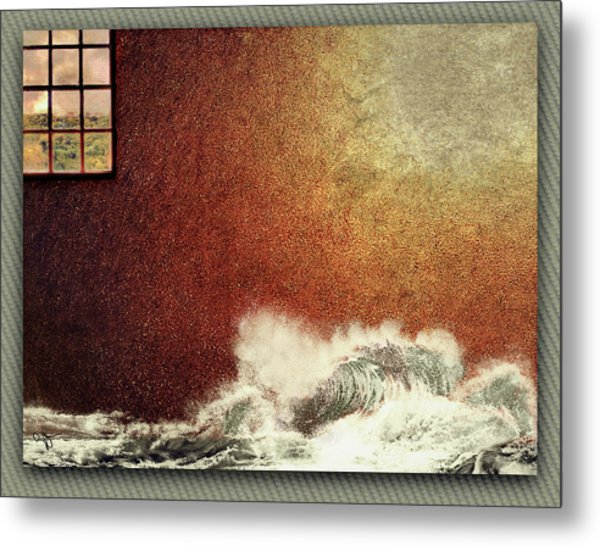 Storm Against The Walls Metal Print