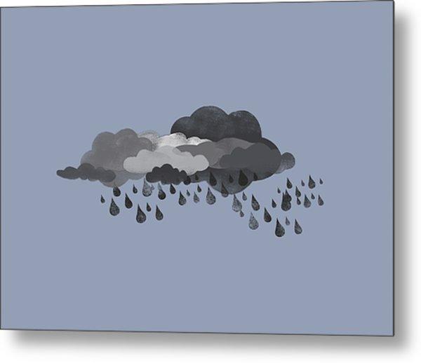 Storm Clouds And Rain Metal Print
