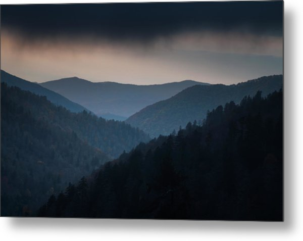 Storm Clouds Over The Smokies Metal Print