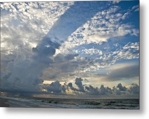 Storm On The Gulf Metal Print by Jennifer Kelly