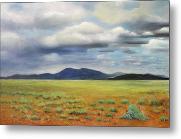 Storm Over Desert Metal Print by Max Mckenzie