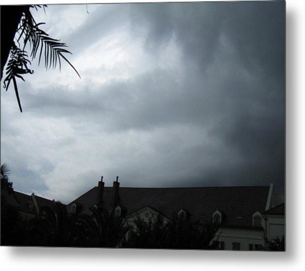 Storm Over The Convent Metal Print by Tom Hefko