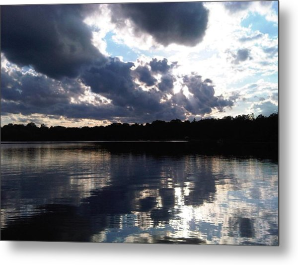 Stormy Reflections Metal Print by Jessica Yudis