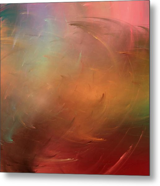 Stormy Seas Fire Metal Print