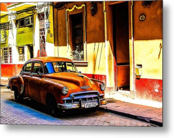Streets Of Havana Metal Print