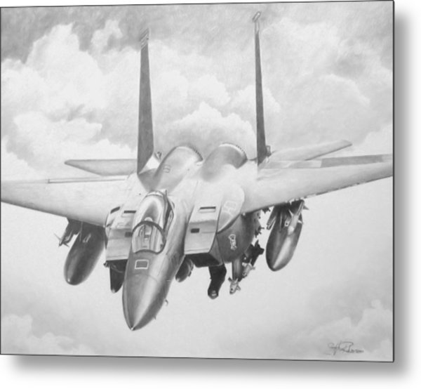 Strike Eagle Metal Print