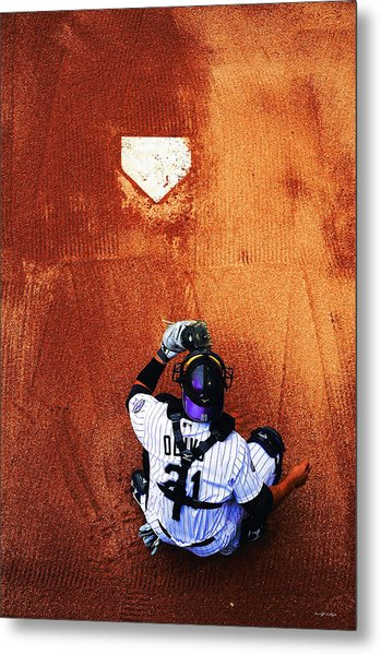 Strike Three Metal Print by Darryl Gallegos