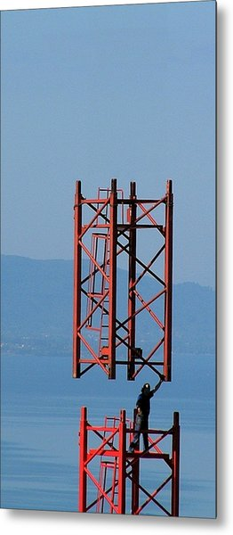 Strong Man Metal Print by Jean-Michel Ammon
