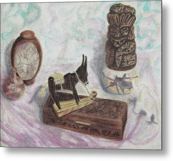 Stubborn Mule Metal Print by Suzanne  Marie Leclair