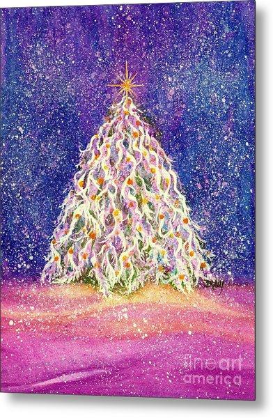 Sugar Plum Forest  - Christmas Tree Metal Print
