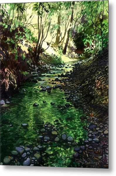 Summer Brook Metal Print