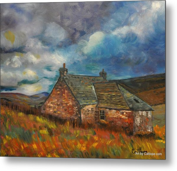 Summer Cottage Metal Print