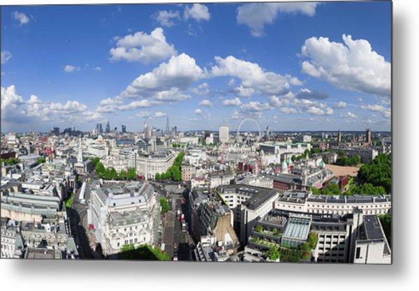 Summer Skies Over London Metal Print