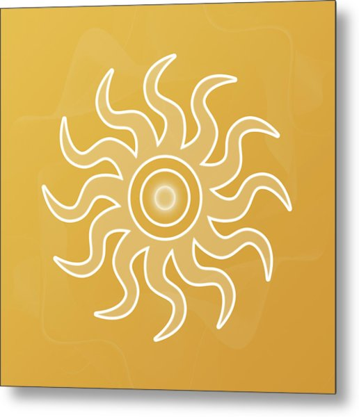 Sun Salutation Metal Print