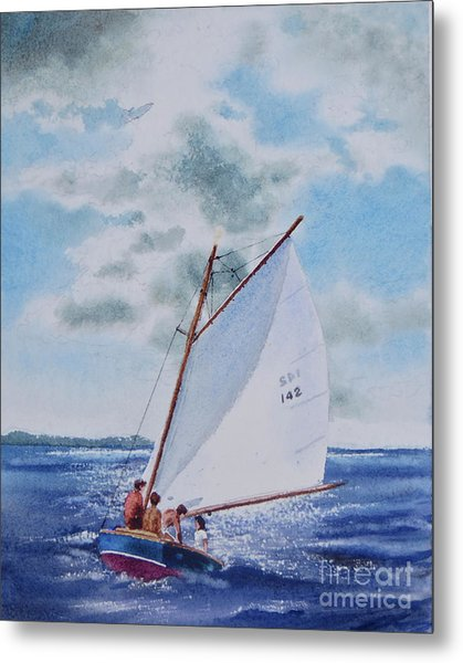 Sunday Sail Metal Print