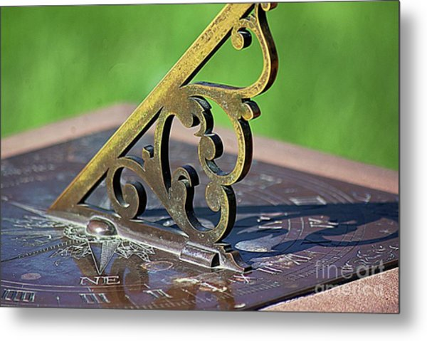 Sundial In The Garden Metal Print