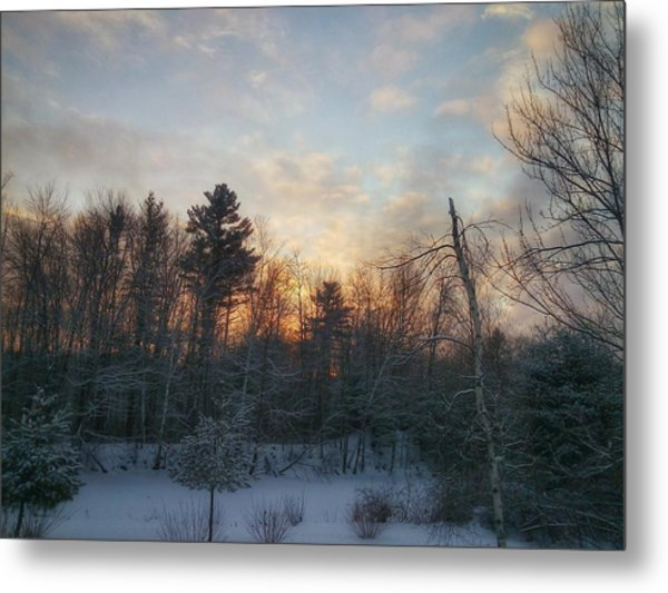 Sundown Winter New England Metal Print