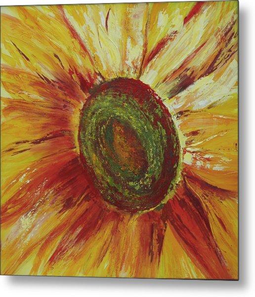 Sunflower Metal Print by Aneta  Berghane