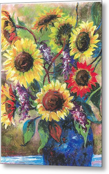 Sunflower Medley Metal Print by Grace Goodson