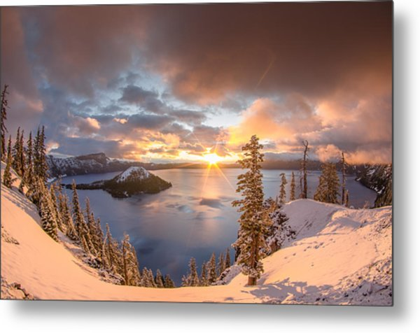 Sunrise After Summer Snowfall Metal Print