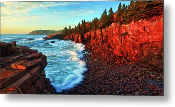 Sunrise At Acadia Metal Print