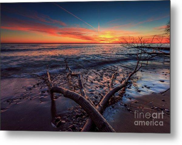 Sunrise Crossing  Metal Print
