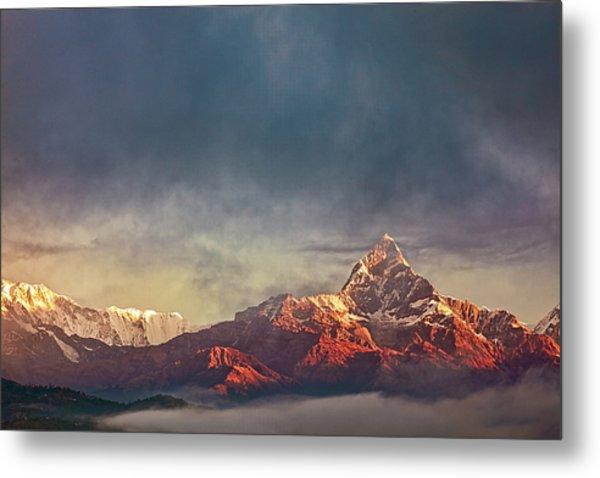 Sunrise On Anapurna Metal Print