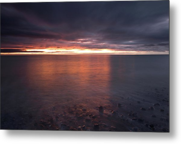 Sunrise On Killiney Beach Metal Print