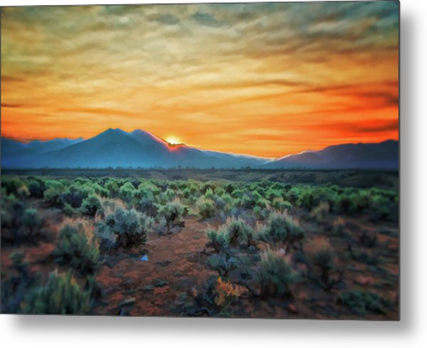 Sunrise Over Taos II Metal Print